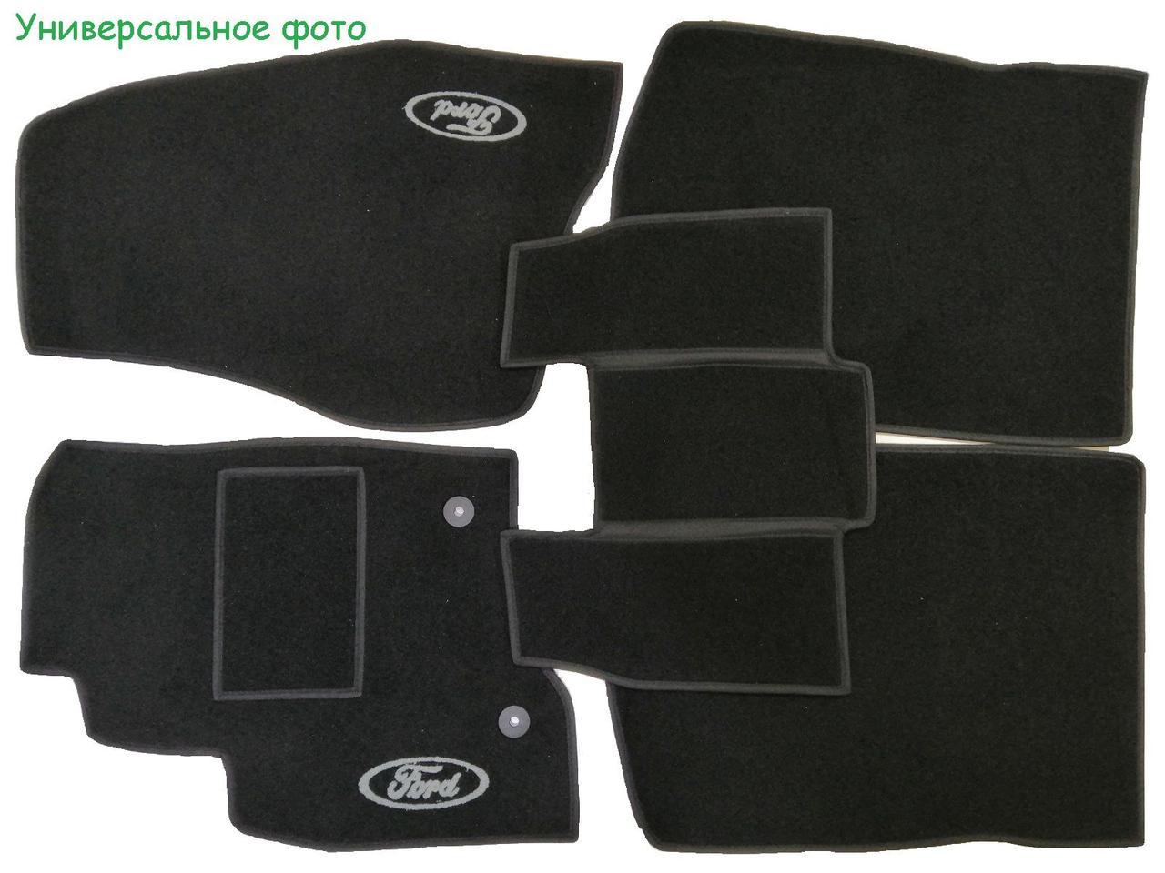 Килимки ворсові в салон на Saab 9-3'07 - чорні
