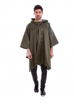 Дождевик пончо плащ-палатка Защита от дождя и ветра Водоотталкивающий нейлон  Оливковый