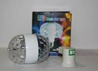 Диско лампа Ball 2015-1, Диско лампа вращающаяся LED lamp для вечеринок, цветомузыка
