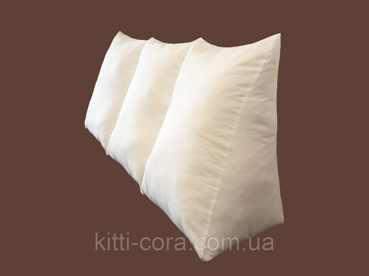 Большая длинная треугольная подушка 180см. Без наволочки в комплекте. Цветная. Белая
