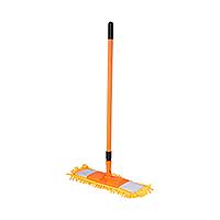 /Швабра для уборки телескопическая микрофибра 1000 пальцев 44 см оранжевая