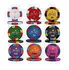 Професійний набір для гри в покер Monte Carlo Millions 500 номінальних фішок в кейсі, фото 2
