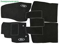 Коврики ворсовые в салон Belmat на Ford Fiesta 2008- черные