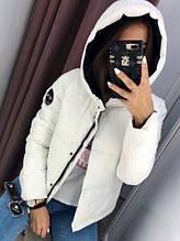 Жіноча куртка Рондо, щільна плащівка-антидощ, р-р С-М; М-Л (білий)