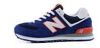Женские кроссовки New Balance 574 blue, фото 1