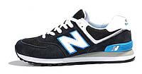 Женские кроссовки New Balance 574 черные, фото 1