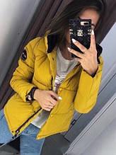 Жіноча куртка Рондо, щільна плащівка-антидощ, р-р С-М; М-Л (жовтий)