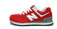 Женские кроссовки New Balance 574 красные, фото 1