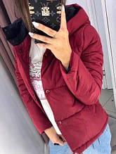 Жіноча куртка Рондо, щільна плащівка-антидощ, р-р С-М; М-Л (червоний)