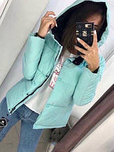 Жіноча куртка Рондо, щільна плащівка-антидощ, р-р С-М; М-Л (м'ята)
