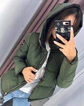 Жіноча куртка Рондо, щільна плащівка-антидощ, р-р С-М; М-Л (хакі)