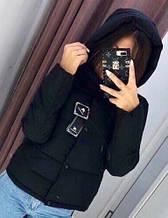Жіноча куртка Рондо, щільна плащівка-антидощ, р-р С-М; М-Л (чорний)