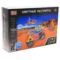 Магнитный конструктор, Play Smart, 24 детали - 2465