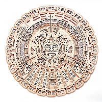 Деревянный конструктор Wood Trick Календарь Майя, 73 детали. Техника сборки - 3d пазл