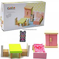 Дерев'яний іграшковий набір Cubika «Меблі 2» (12640)