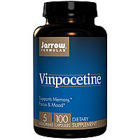 Винпоцетин, Витамины для мозга, Jarrow Formulas, 5мг, 100 капсул