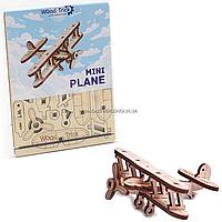 Деревянный конструктор Wood Trick Вудик самолет мини, 20 деталей. Техника сборки - 3d пазл