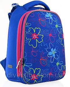 """Рюкзак шкільний, каркасний H-12 """"Vivid flowers"""" серія """"Shalby"""" 556038"""