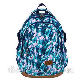 """Підлітковий шкільний рюкзак BP-01 """"BLUE LEAVE"""" ST.RIGHT 625589"""