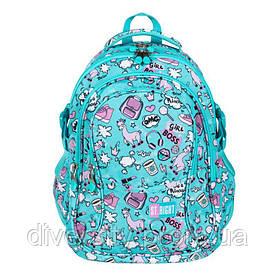 """Підлітковий шкільний рюкзак BP-01 """"PASTEL LAMAS"""" ST.RIGHT 626708"""