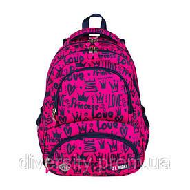 """Підлітковий шкільний рюкзак BP-07 """"LOVE"""" ST.RIGHT 626777"""