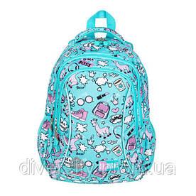 """Підлітковий шкільний рюкзак BP-26 """"PASTEL LAMAS"""" ST.RIGHT 626715"""