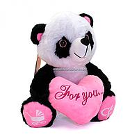 Мягкая игрушка плюшевая Панда 1 «Копиця» белый черный музыка 30*25*20 см (21315-10)