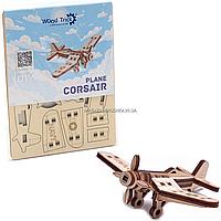 Деревянный конструктор Wood Trick Вудик самолет корсар, 20 деталей. Техника сборки - 3d пазл