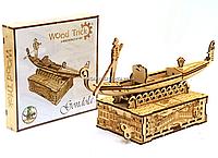 Деревянный конструктор Wood Trick Гондола.Техника сборки - 3d пазл