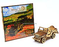 Деревянный конструктор Wood Trick Джип. Техника сборки - 3d пазл