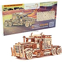 Деревянный механический конструктор Wood Trick Тягач.Техника сборки - 3d пазл