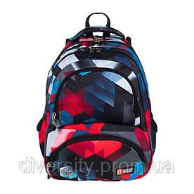 """Підлітковий шкільний рюкзак BP-07 """"Red 3D Blocks"""" ST.RIGHT 626333"""