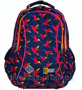 """Підлітковий шкільний рюкзак BP-07 """"Rainbow Birds """" ST.RIGHT 590011"""