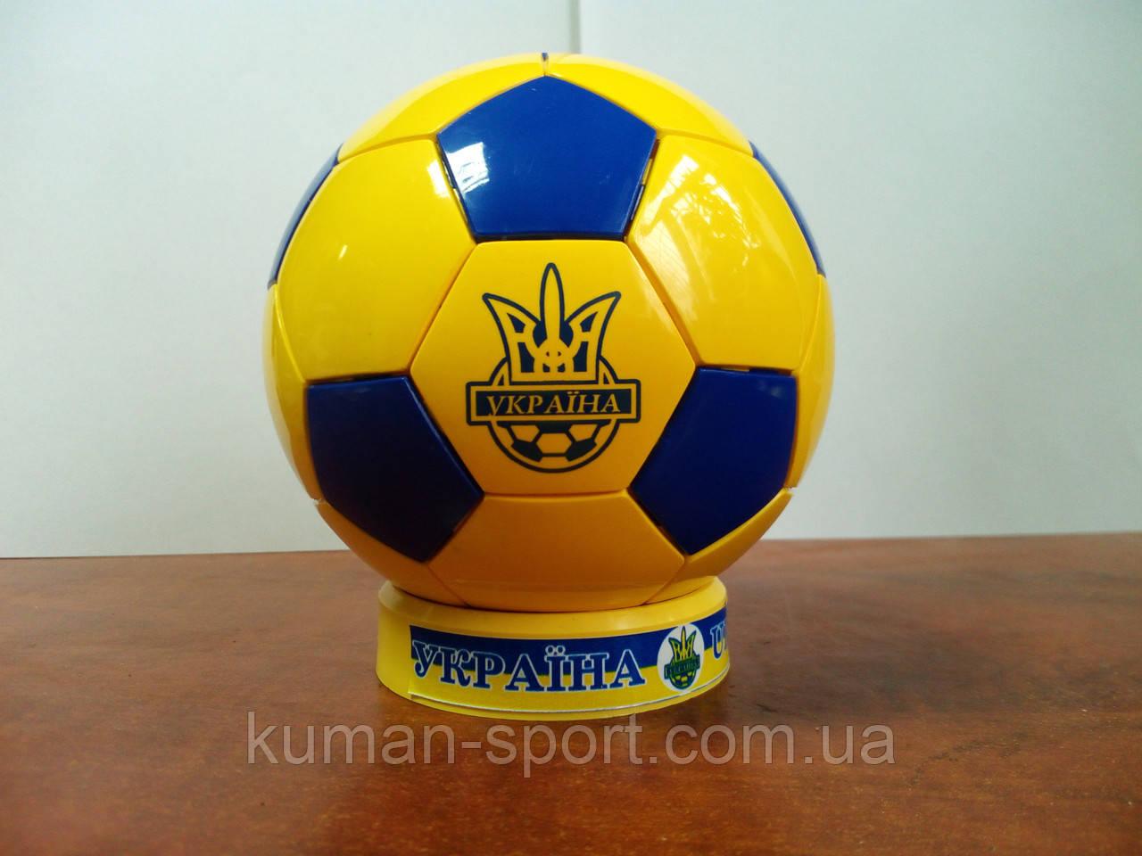 Мяч сувенирный LEGO  Украина (желто-синий), фото 1