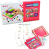 Дитячий дерев'яний конструктор Чари (Wooden Pixel) Cubika (Кубики) 250 елементів (14880)