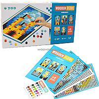 Дитячий дерев'яний конструктор Королівство (Wooden Pixel) Cubika (Кубики) 700 елементів (14941)