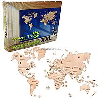 Деревянный конструктор Wood Trick Карта мира XXL. Техника сборки - 3d пазл