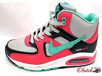 Кроссовки женские высокие зимние Nike Air Max на меху NI0048