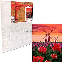 Картина за номерами Ідейка «Тюльпани на заході» 40x50 см (КНО2275)