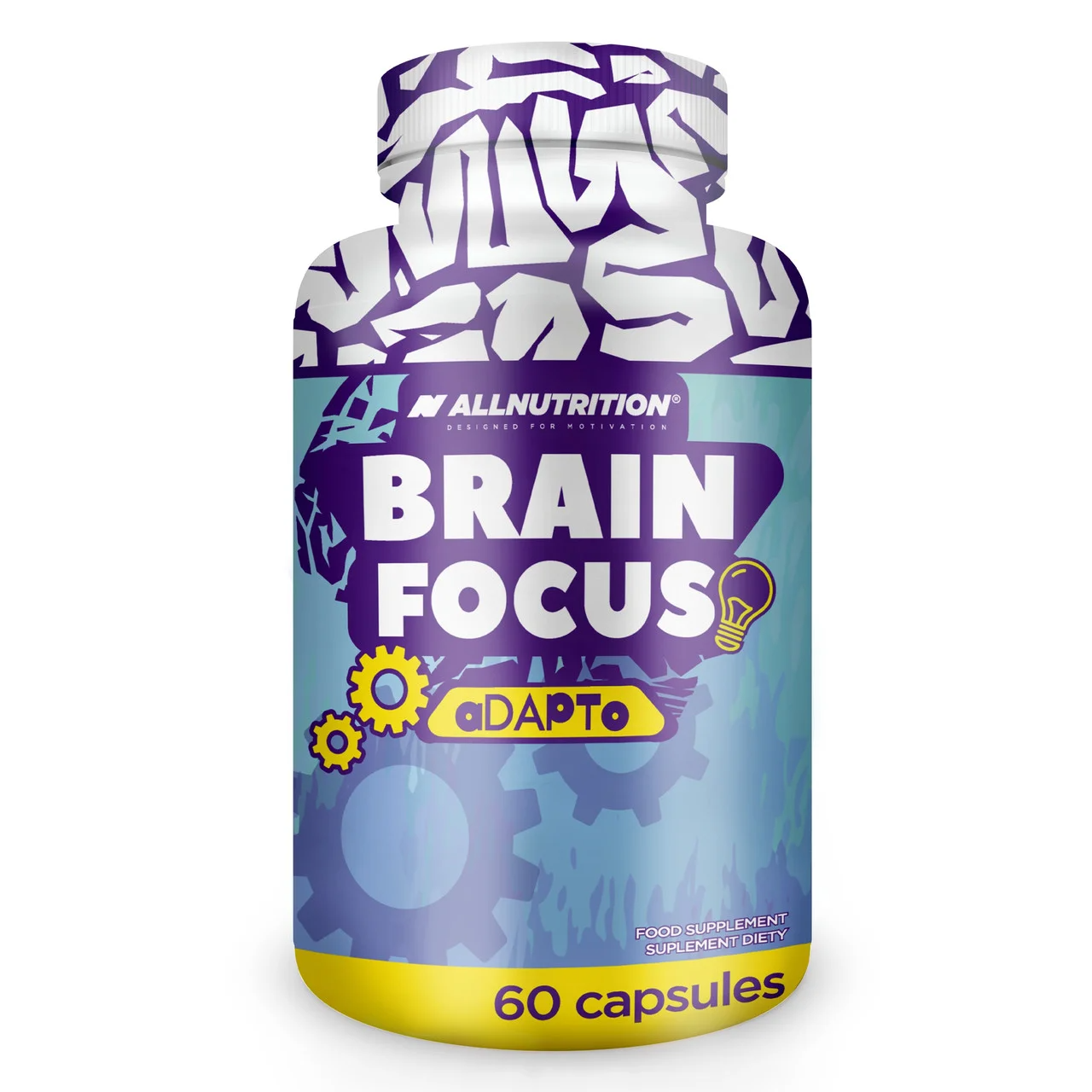 Вітаміни для мозку allnutrition brain focos 60 капсул