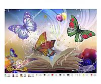 Схема для вышивки под бисер бабочки