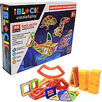 Магнитный конструктор Iblock «Цветные магниты» 88 деталей (PL-920-07)