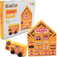 Дерев'яна іграшка Cubika Candy shop кондитерська LDK1 (15115)