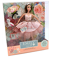 Лялька Emily 30 см з вихованцем і букетом (QJ077A/QJ077B)