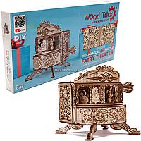 Деревянный механический конструктор Wood Trick Сказочный театр. Техника сборки - 3d пазл, 162 детали