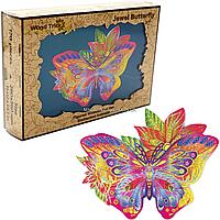 Пазл деревянный Wood Trick Драгоценная бабочка, 170 деталей. Техника сборки 3D-пазл