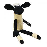 Мягкая игрушка Копиця овечка «Зося», мех искусственный, черно-белый, 51 см, (00272-81)