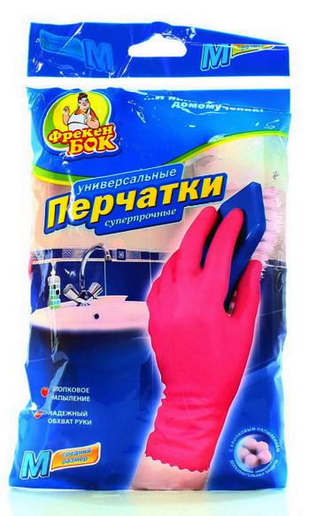 Перчатки резиновые суперпрочные Фрекен Бок (S,M,L)