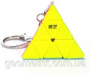 Брелок Пирамидка без наклеек   Pyraminx Keyring stickerless