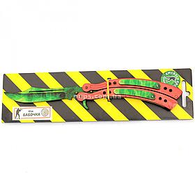 """Дерев'яний ніж іграшка """"Метелик"""" (Зелений Смарагд) з Counter-Strike (арт.BAL-E)"""